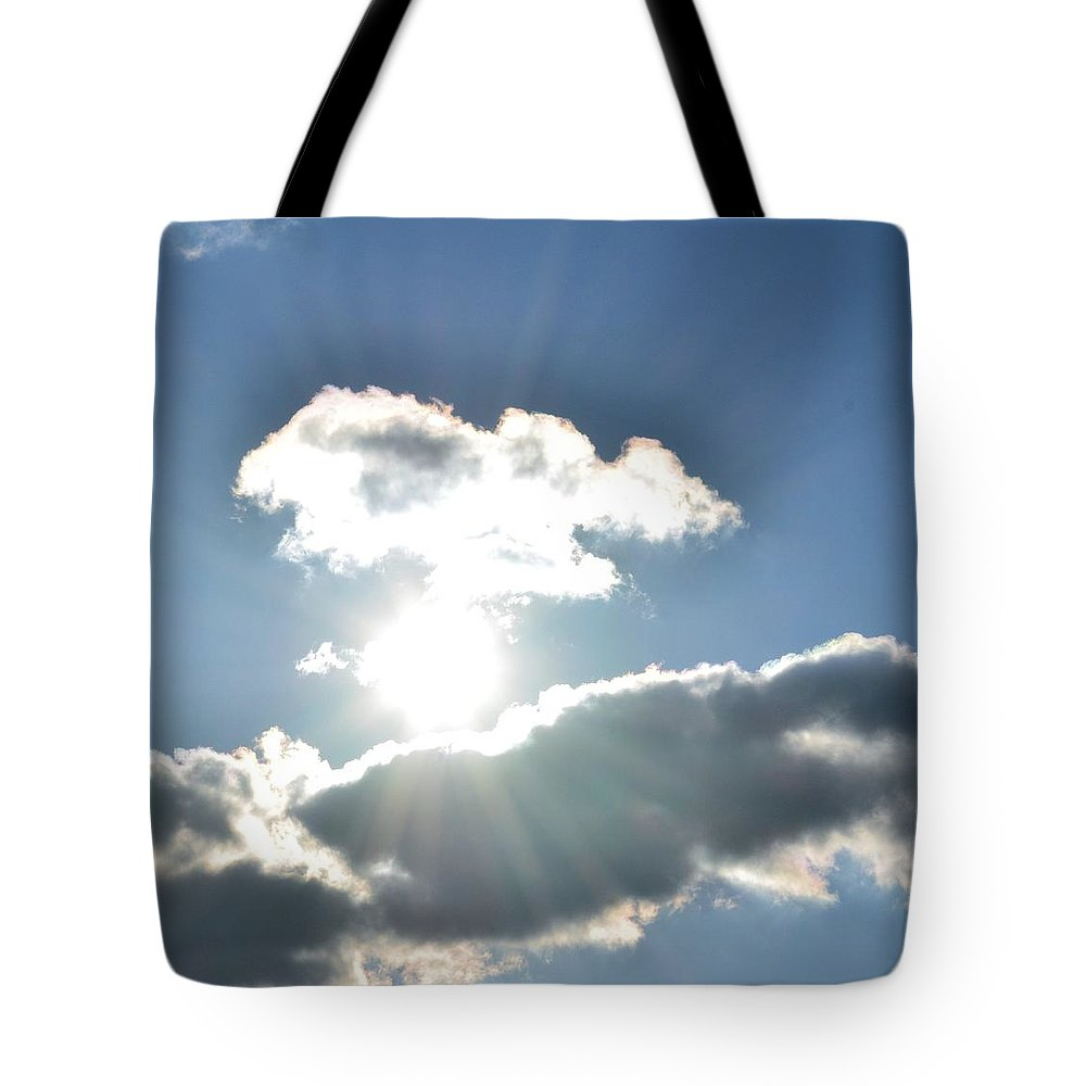 Sunshine Clouds Tote Bag featuring the photograph Sunshine Clouds by Maria Urso