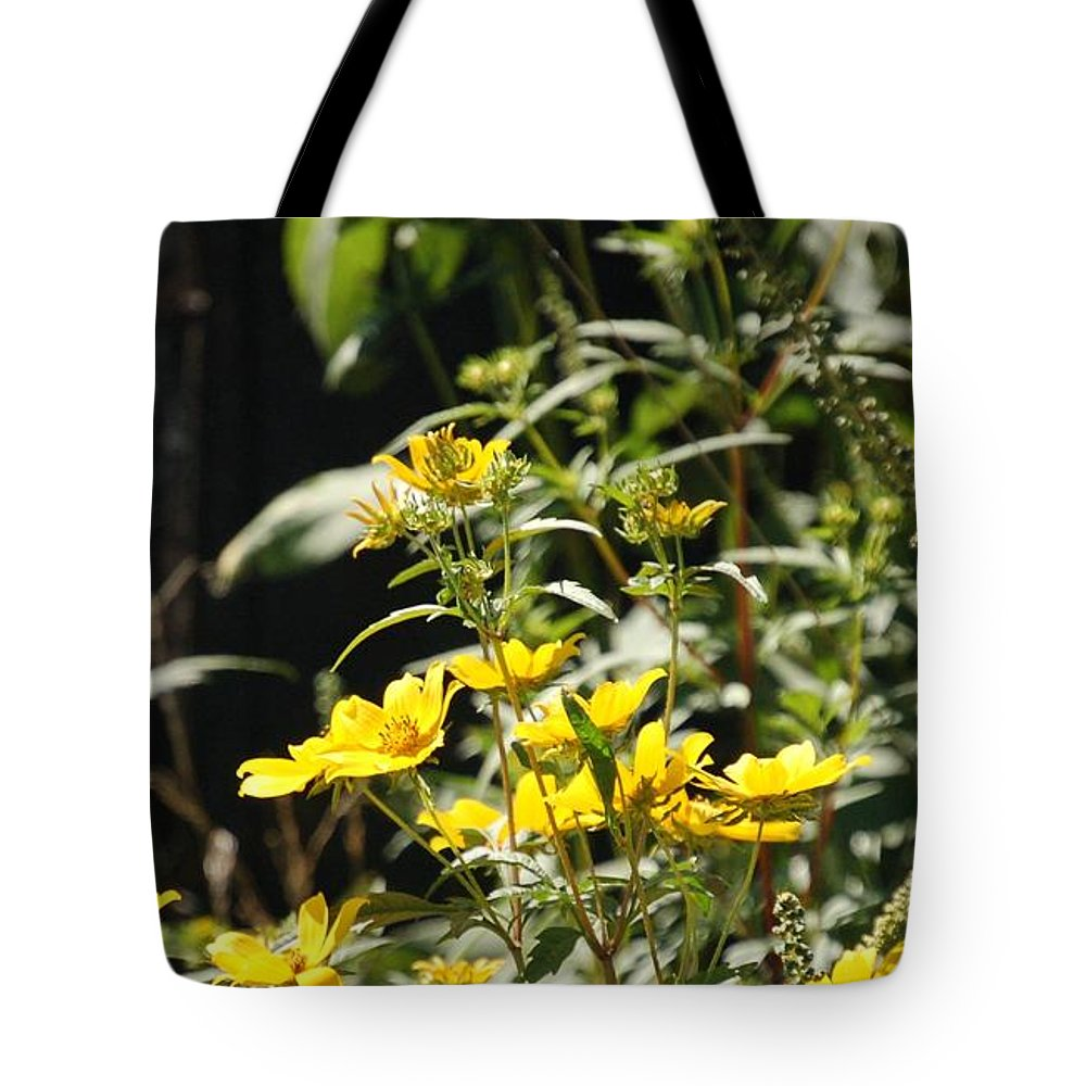 Wildflowers Tote Bag featuring the photograph Sunshine Flowers by Lucy Bounds