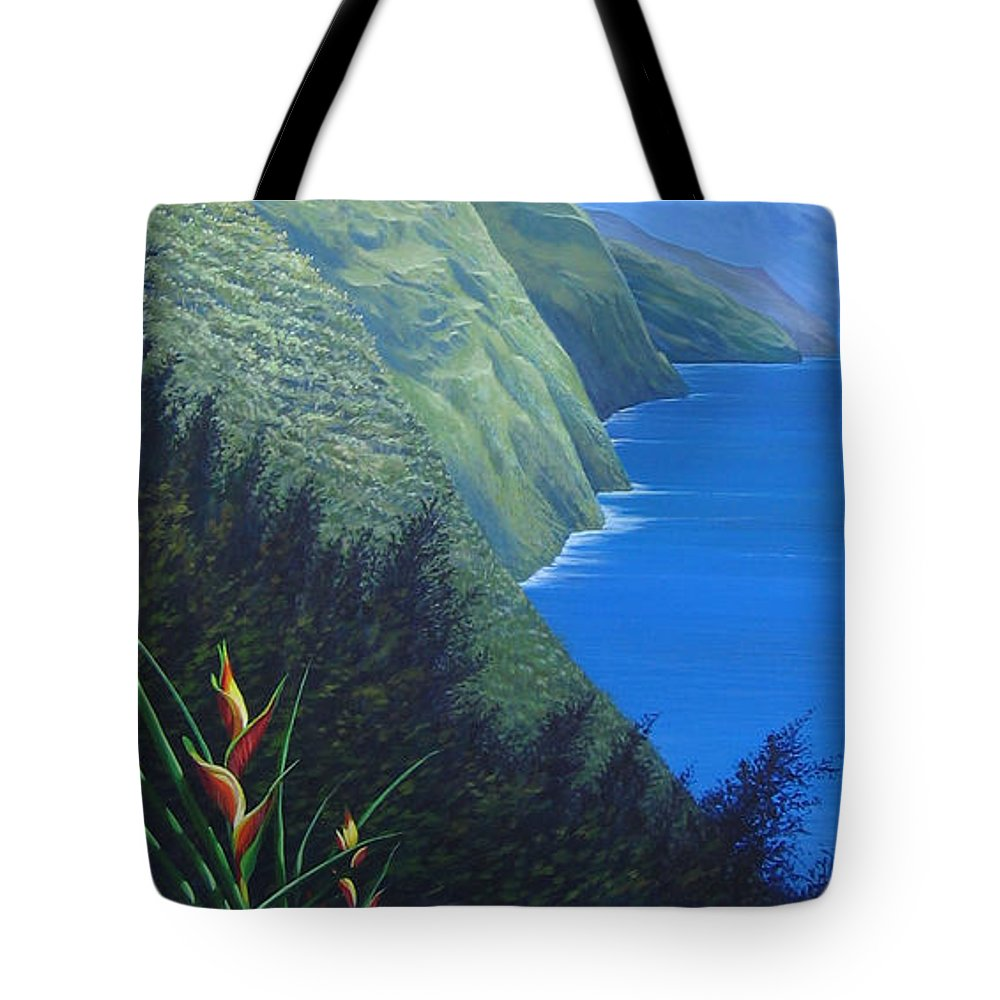 Landscape Tote Bag featuring the painting Sunshine in the Shade by Hunter Jay
