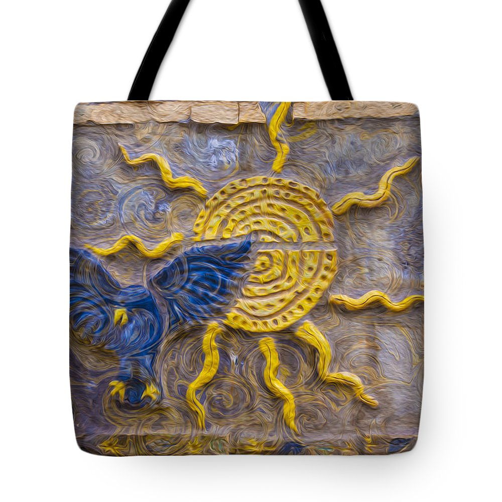 Georgia Okeefe Tote Bag featuring the painting Sunshine Loving A Bluebird by Omaste Witkowski