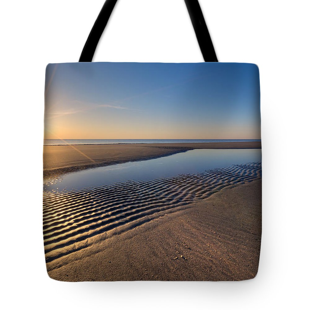 Clouds Tote Bag featuring the photograph Sunshine On The Beach by Debra and Dave Vanderlaan