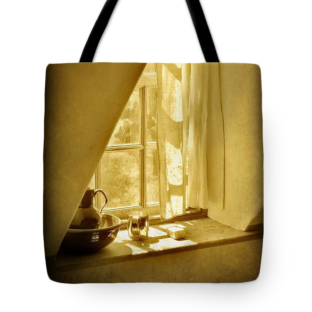 Window Tote Bag featuring the photograph Sunshine Through The Window by Jean Goodwin Brooks