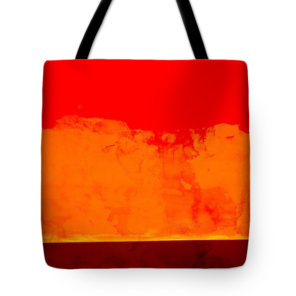 Red Tote Bag featuring the photograph Sunstorm by Carol Leigh