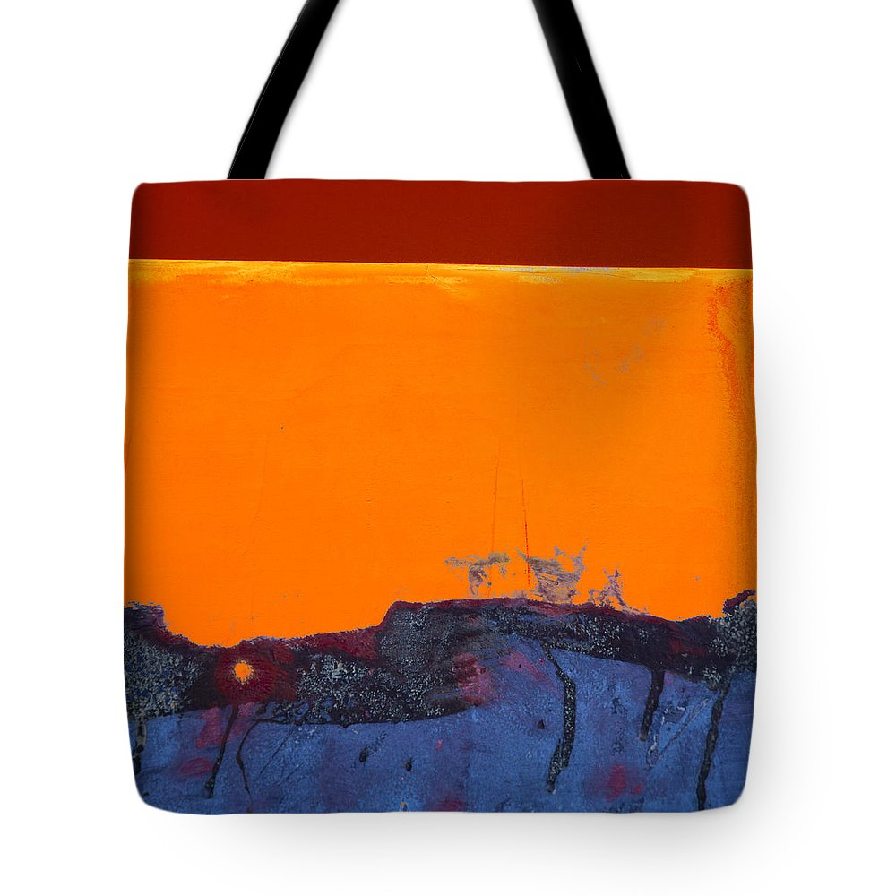 Red Tote Bag featuring the photograph Sunstorm No. 2 by Carol Leigh