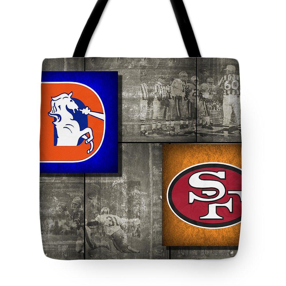 Broncos Tote Bag featuring the photograph Super Bowl 24 by Joe Hamilton