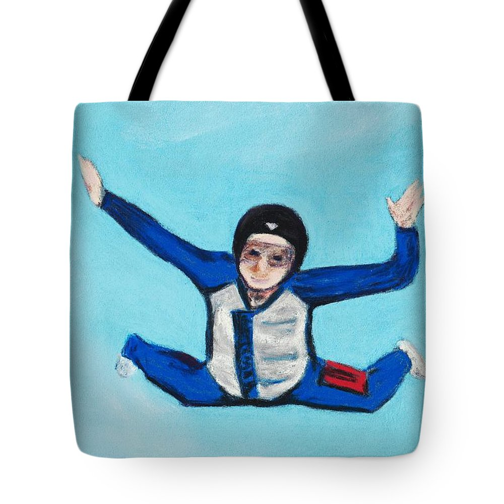 Position Tote Bag featuring the pastel Super Kid by Anastasiya Malakhova