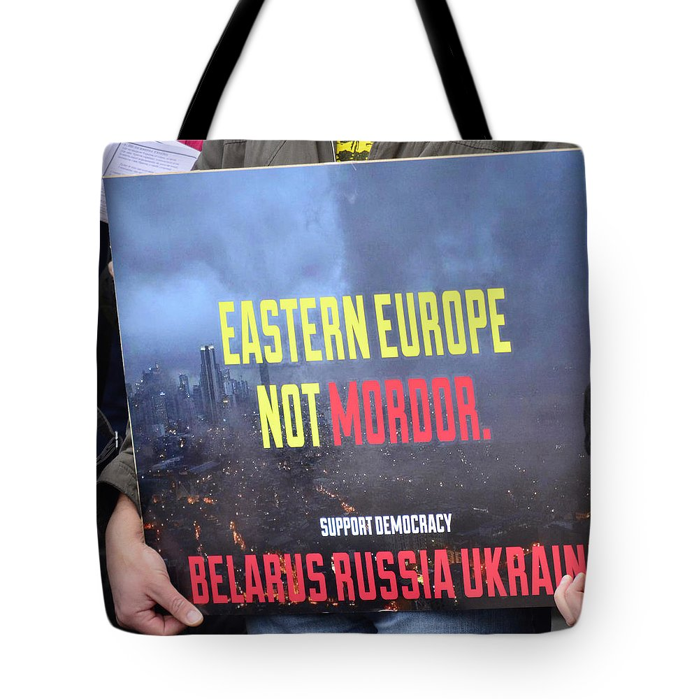 Street Photography Tote Bag featuring the photograph Support Democracy by The Artist Project