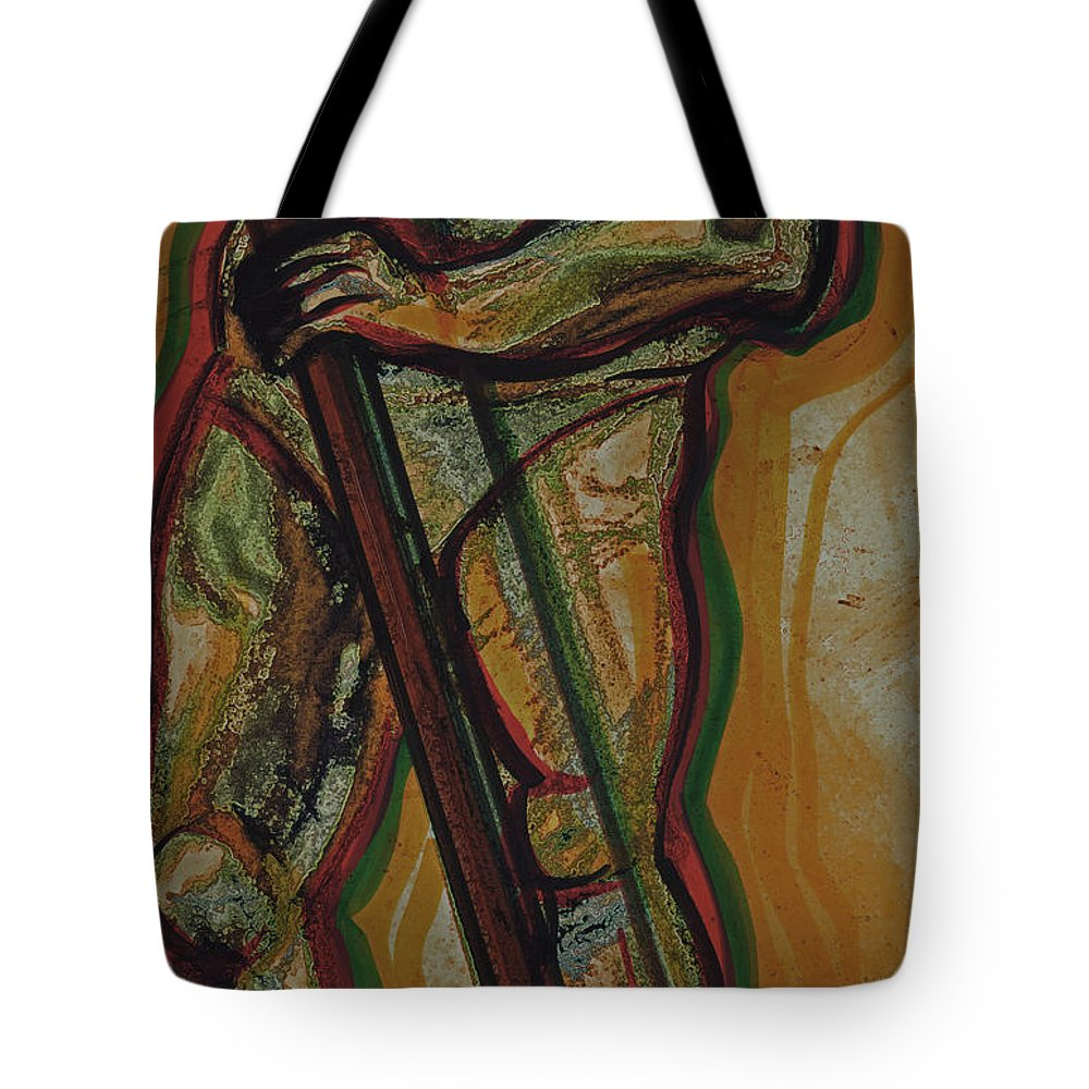 First Star Art Tote Bag featuring the drawing Support by First Star Art