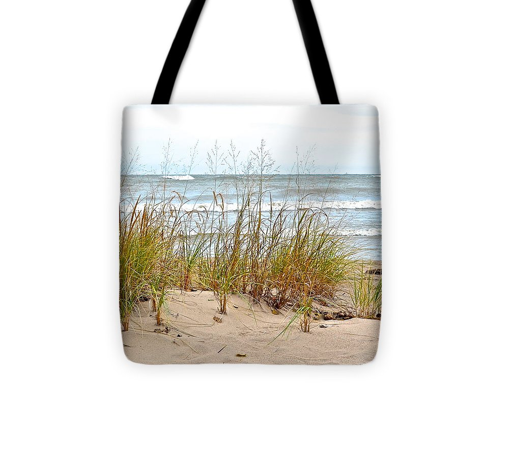 Surf Tote Bag featuring the photograph Surf And Turf by Frozen in Time Fine Art Photography