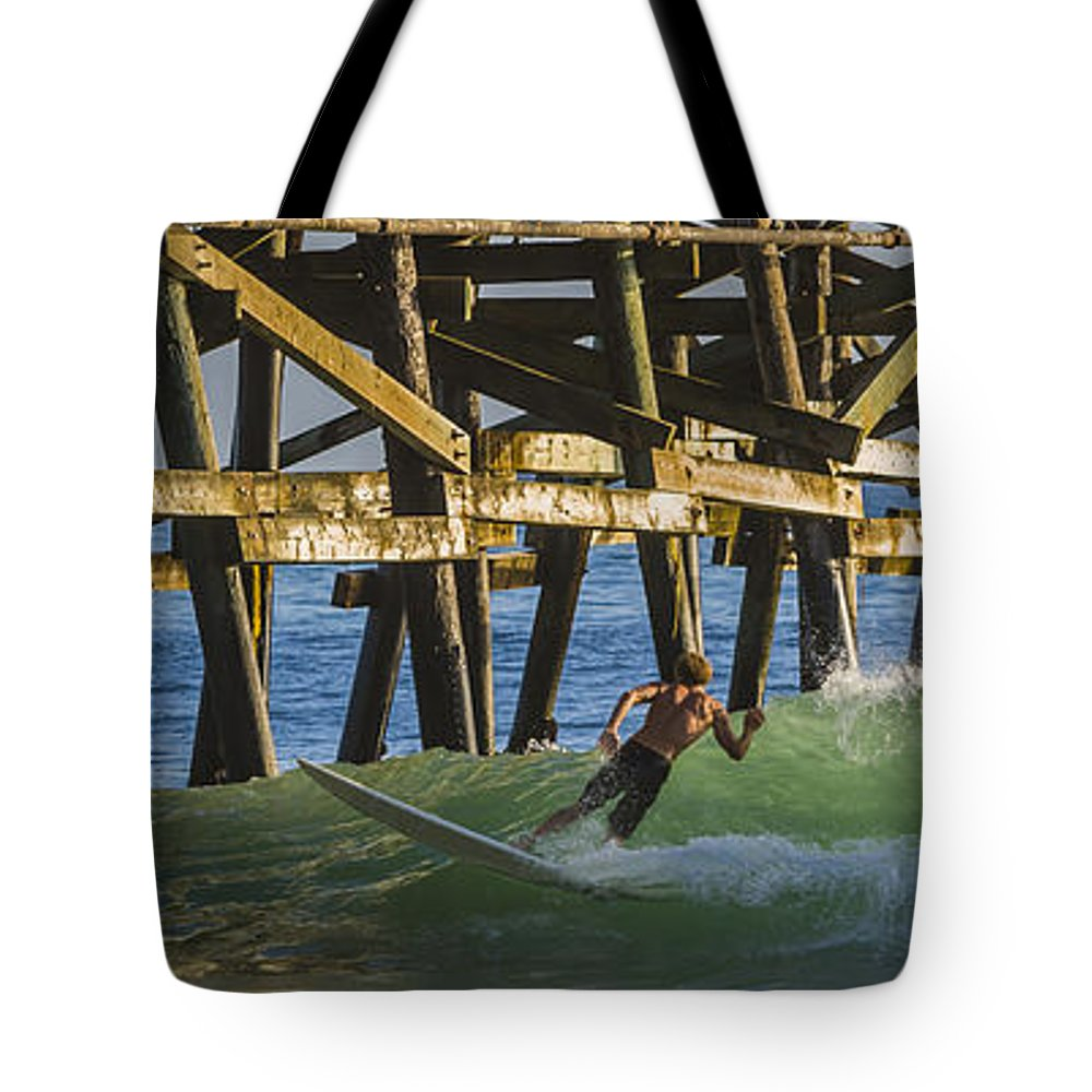 Surfing Tote Bag featuring the photograph Surfer Dude 4 by Scott Campbell