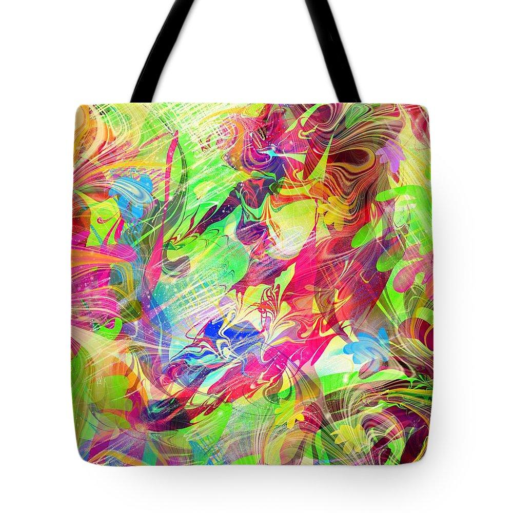 Surfer Tote Bag featuring the digital art Surfer by Rachel Christine Nowicki