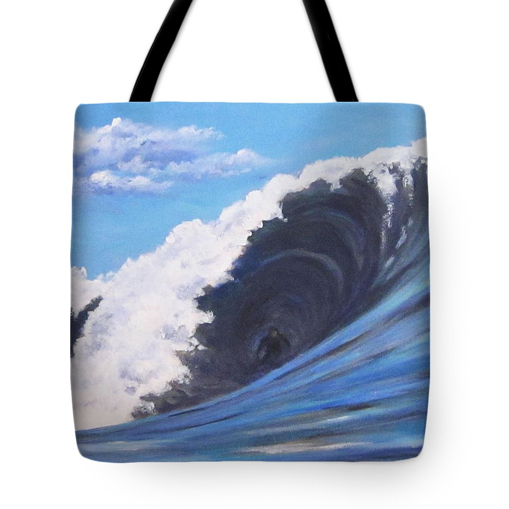 Surf Tote Bag featuring the painting Surfer's Dream by Anne Marie Brown