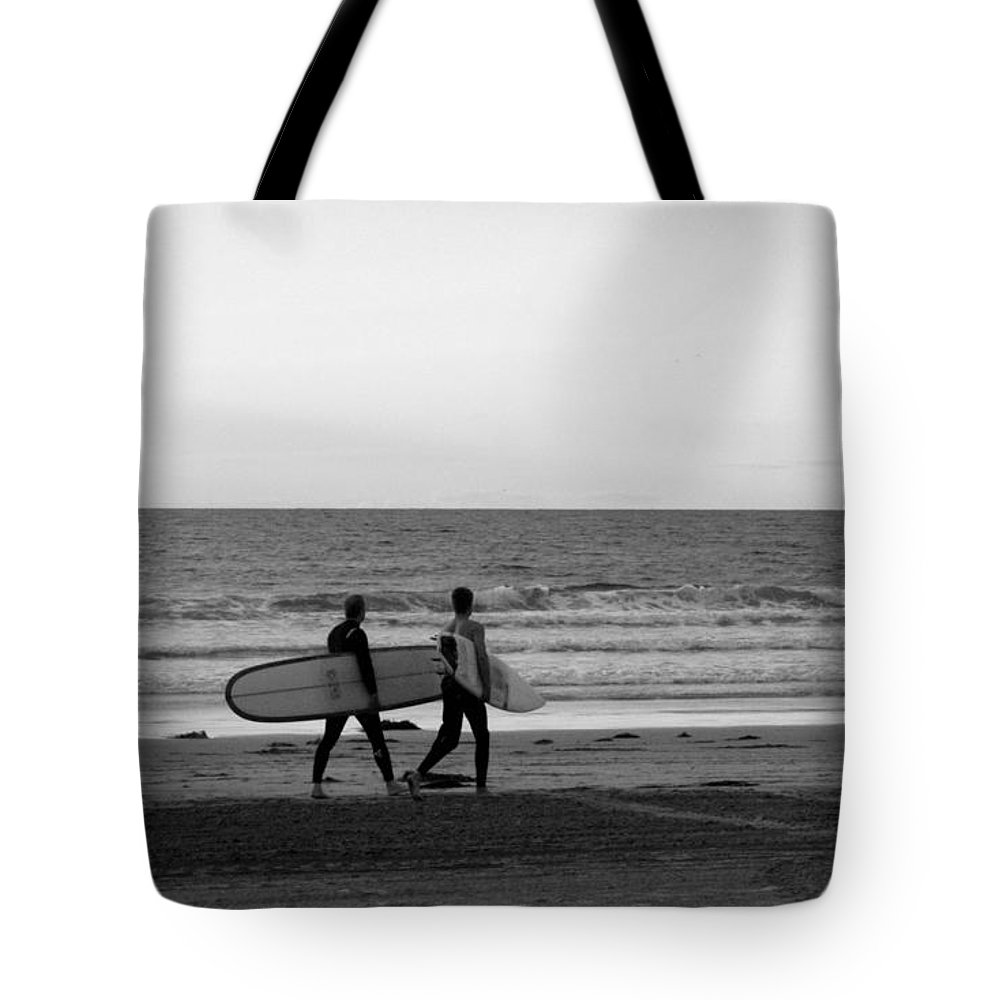 La Jolla Tote Bag featuring the photograph Surfers by Samantha Glaze
