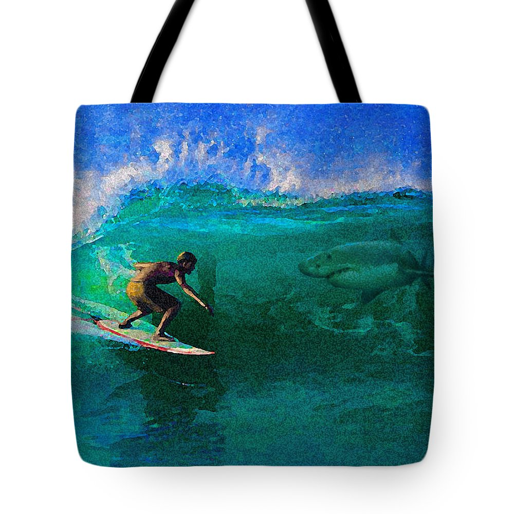 Hawaii Iphone Cases Tote Bag featuring the photograph Surfs Up by James Temple
