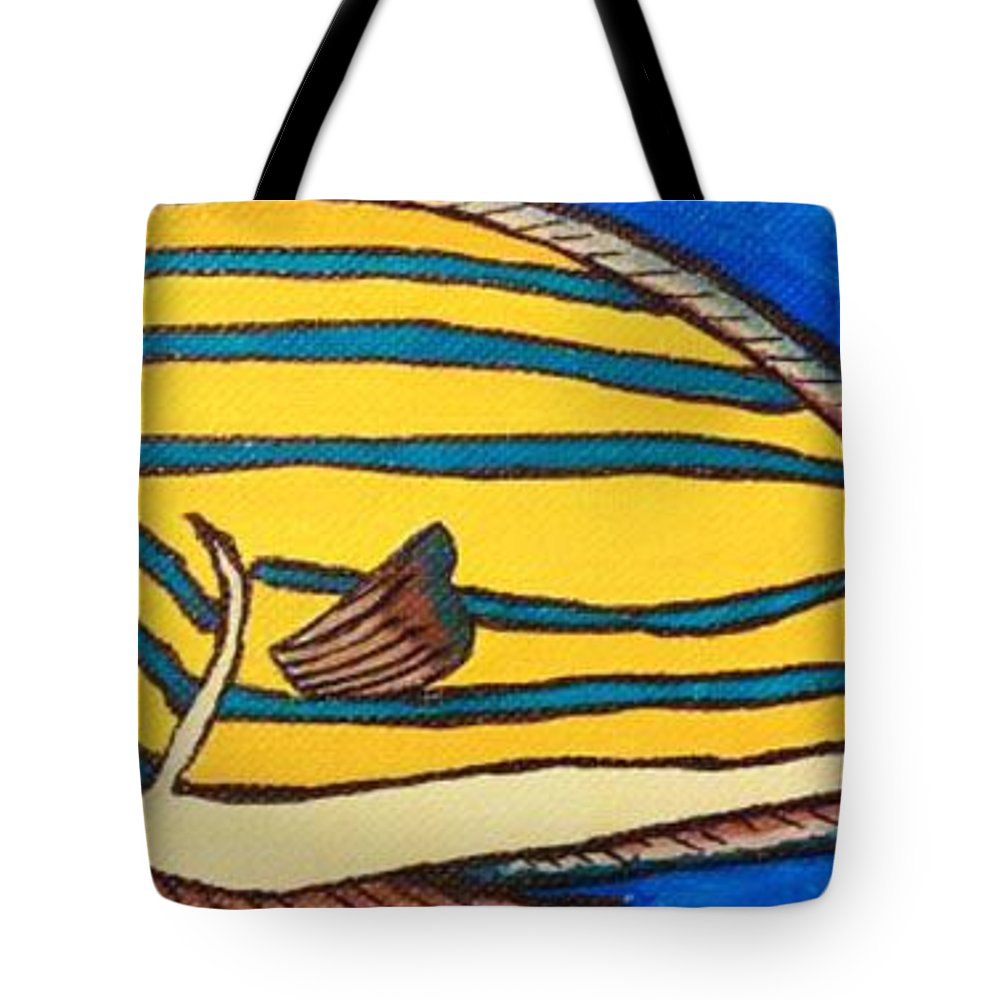 Surgeonfish Tote Bag featuring the painting Surgeonfish by Lady Ex