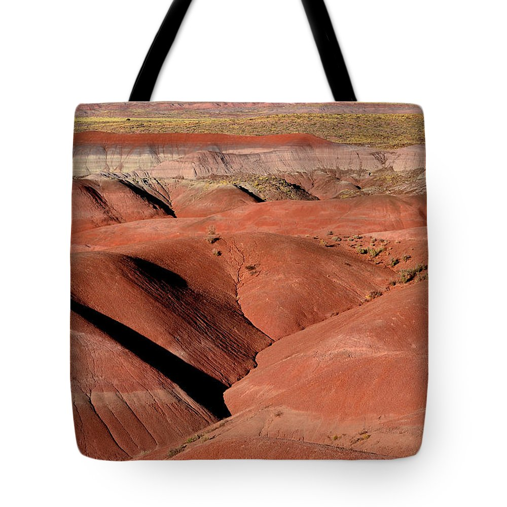 Landscape Tote Bag featuring the photograph Surreal Red Landscape by Nadalyn Larsen