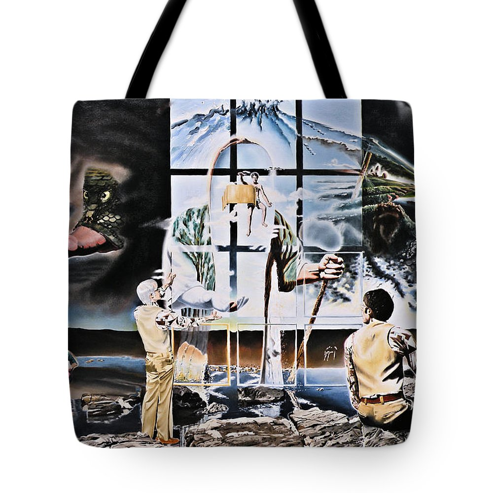 Surreal Tote Bag featuring the painting Surreal Windows Of Allegory by Dave Martsolf