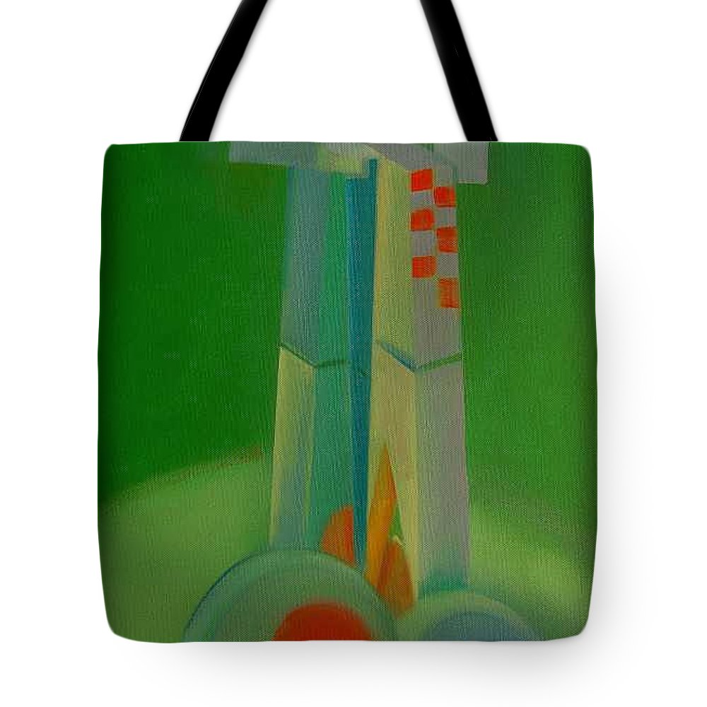 Cubist View Of Figure Tote Bag featuring the painting Survivors by Charles Stuart