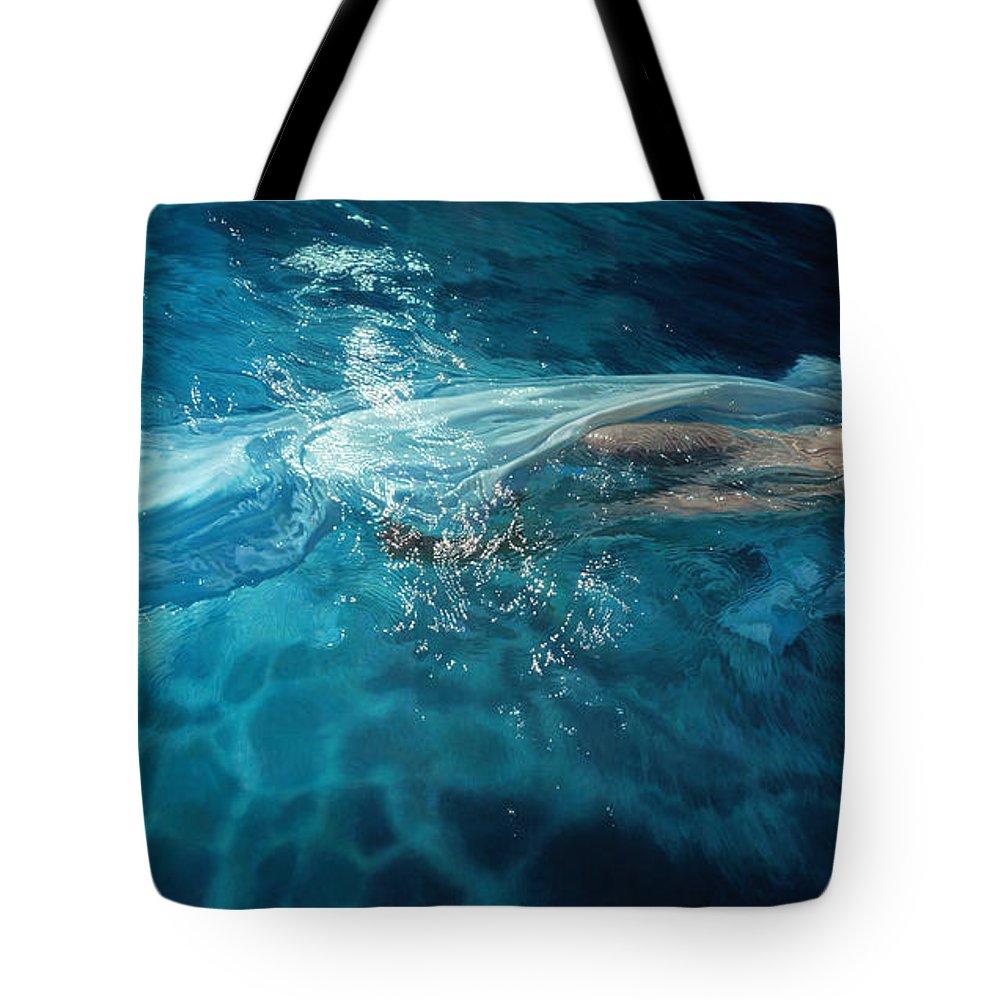 Featured Tote Bag featuring the painting Susperia by Mia Tavonatti