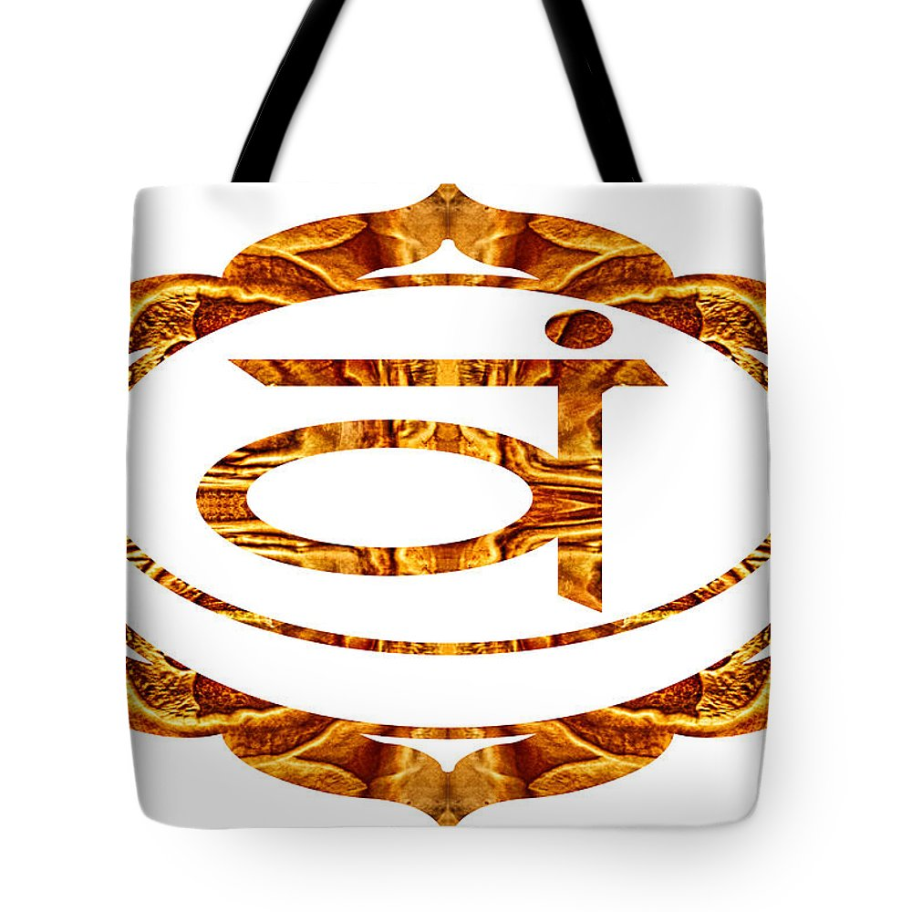 2x3 (4x6) Tote Bag featuring the digital art Swadhisthana Abstract Chakra Art By Omaste Witkowski by Omaste Witkowski