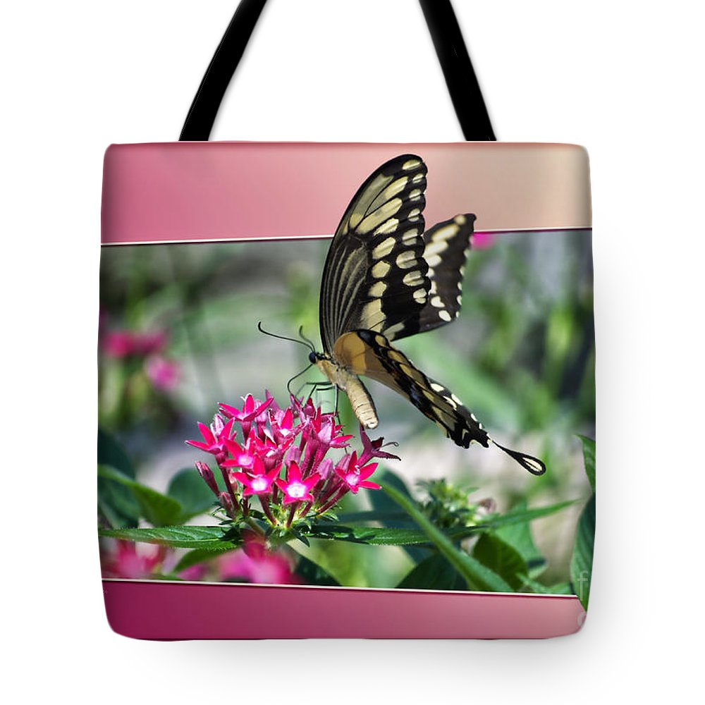 Butterfly Tote Bag featuring the photograph Swallowtail Butterfly 03 by Thomas Woolworth