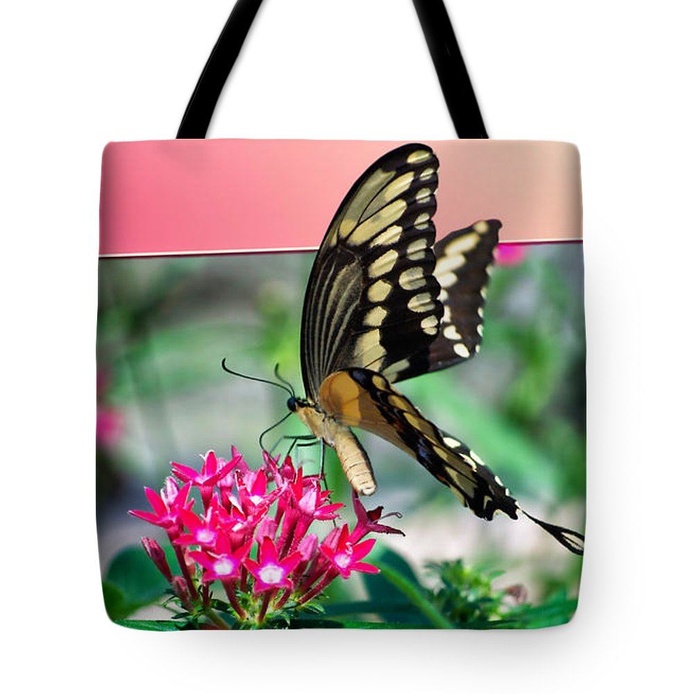 Butterfly Tote Bag featuring the digital art Swallowtail Butterfly 04 by Thomas Woolworth
