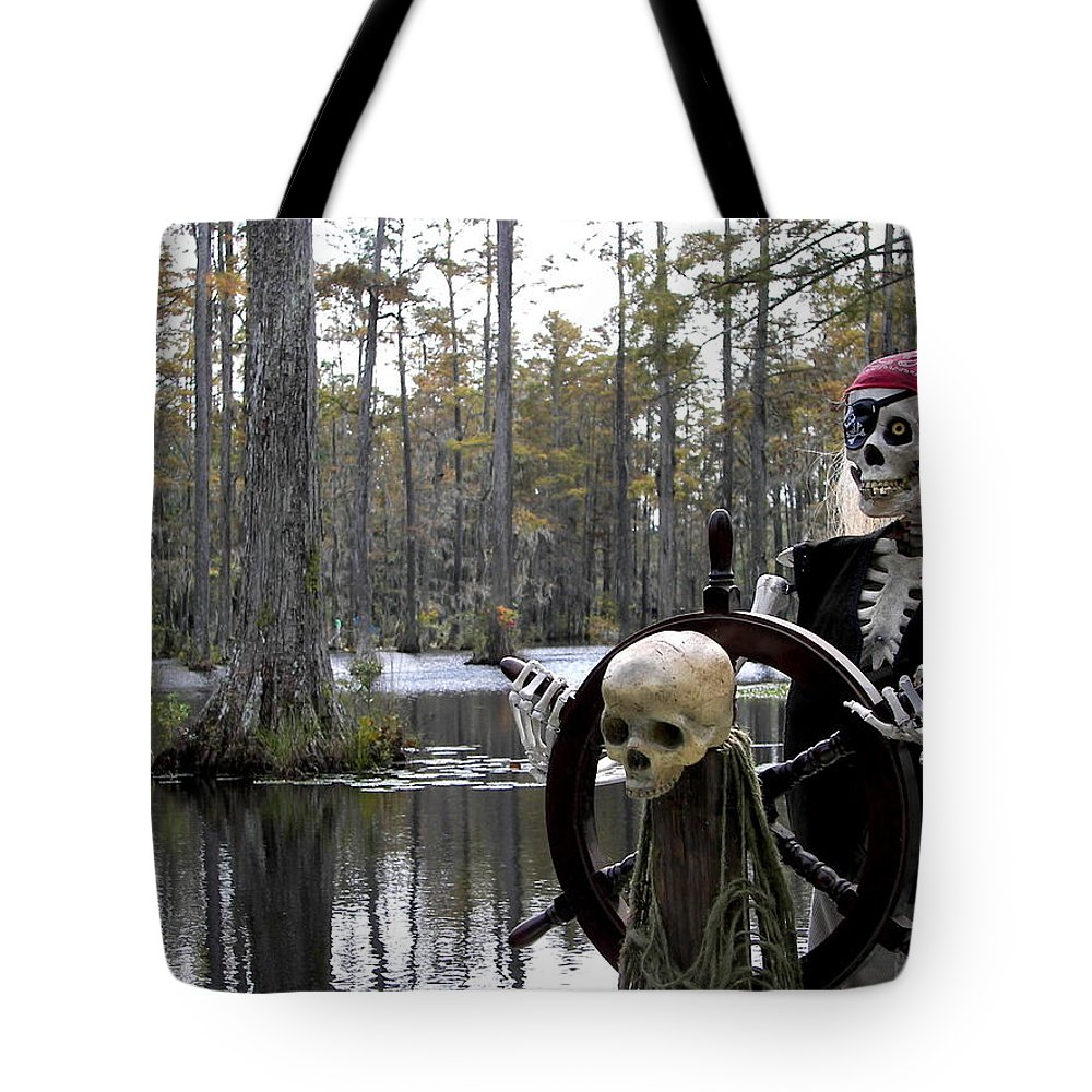 Pirates Tote Bag featuring the photograph Swamp Pirate by Karen Wiles