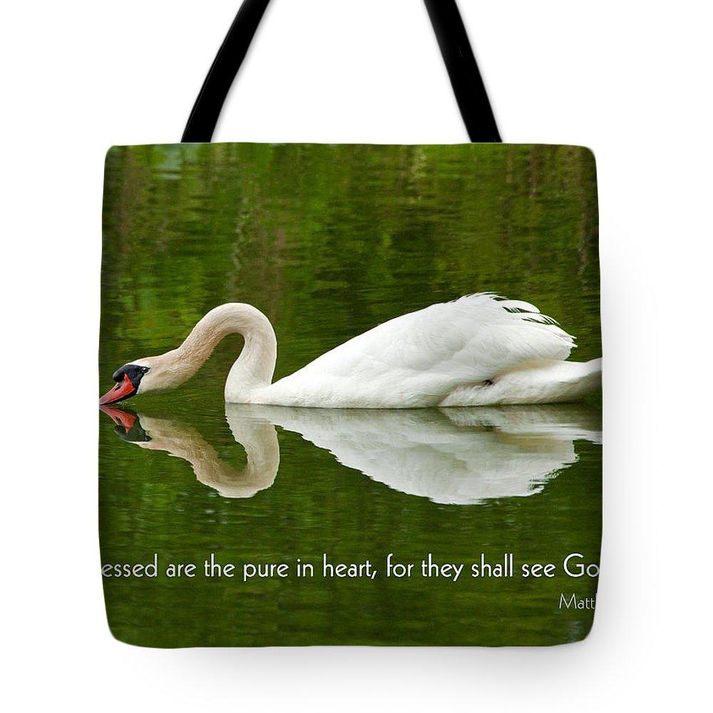 Swan Heart Bible Verse Greeting Card Original Fine Art Photograph