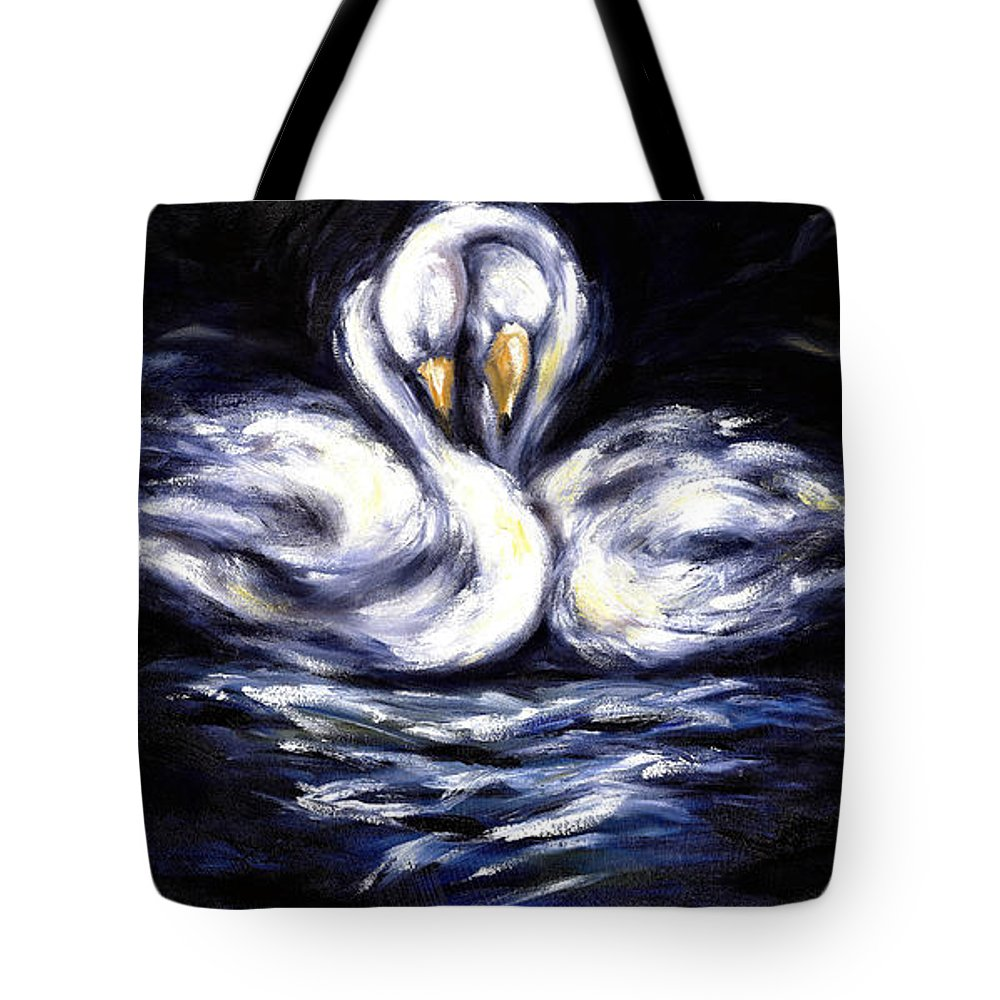 Bird Tote Bag featuring the painting Swan by Hiroko Sakai