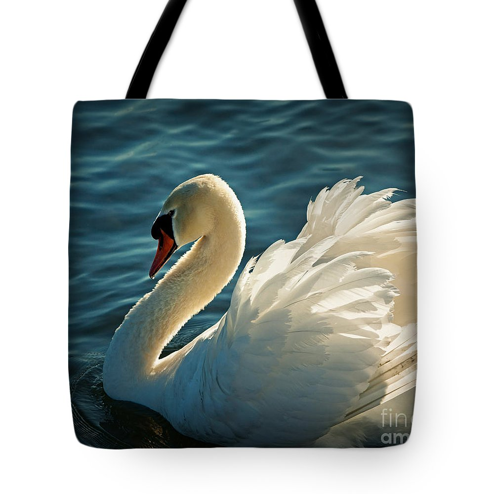 Elegant Tote Bag featuring the photograph Swan Lake by Edmund Nagele