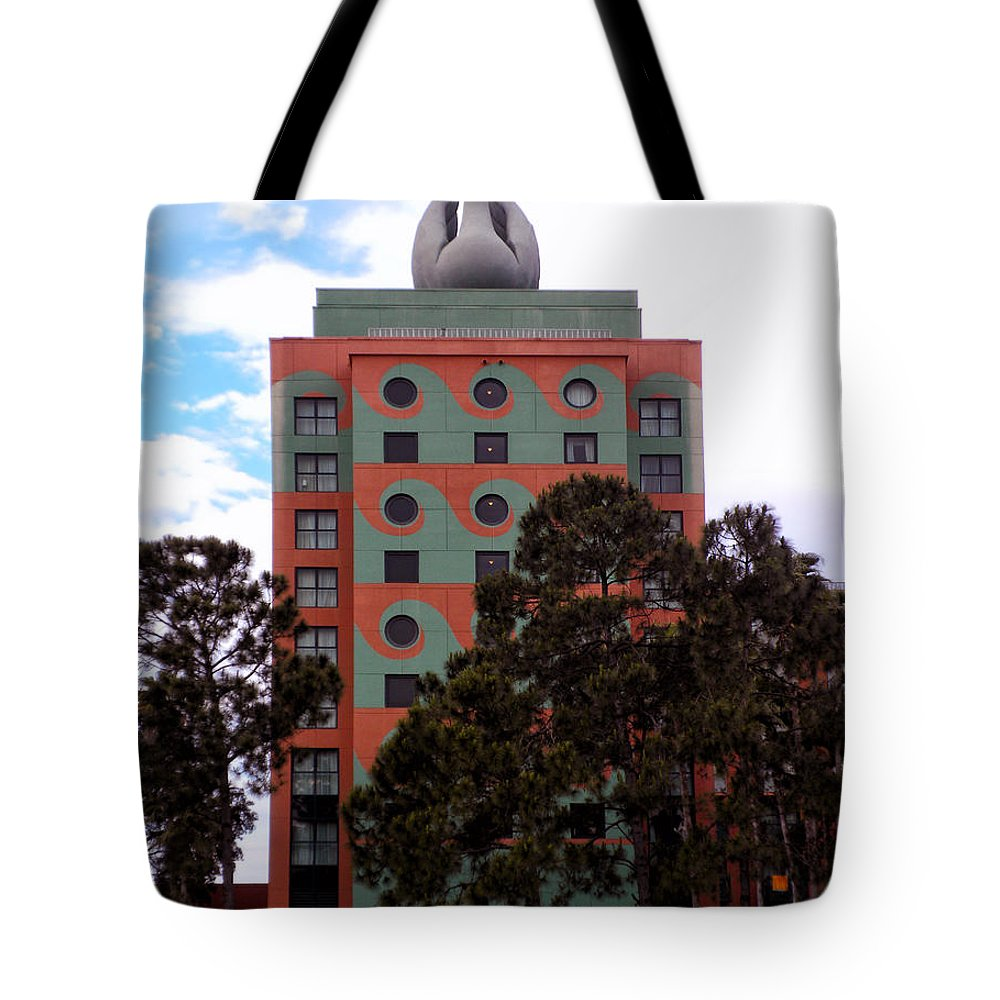 Swan Resort Tote Bag featuring the photograph Swan Resort Side View Walt Disney World by Thomas Woolworth