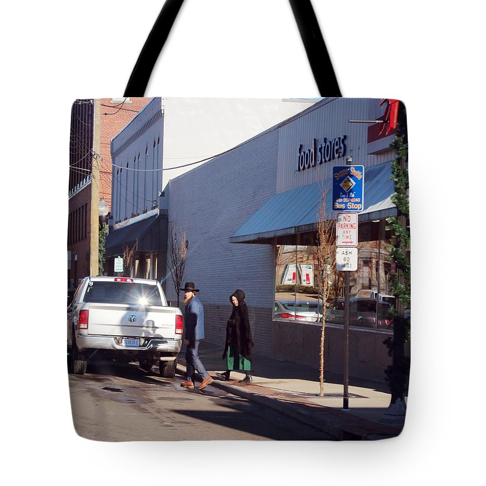 Amish Tote Bag featuring the photograph Swartzentruber Amish by R A W M