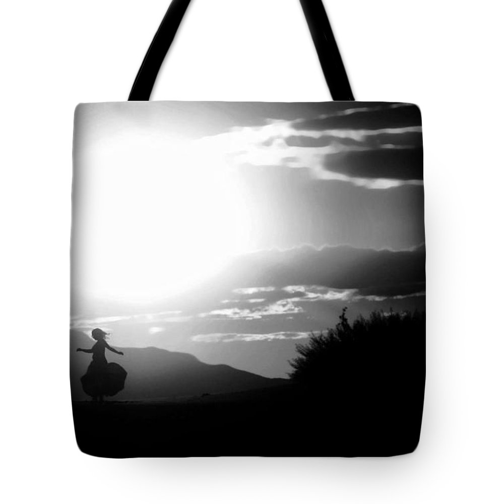 Black Tote Bag featuring the photograph Sway Of The Sun by Jessica Shelton