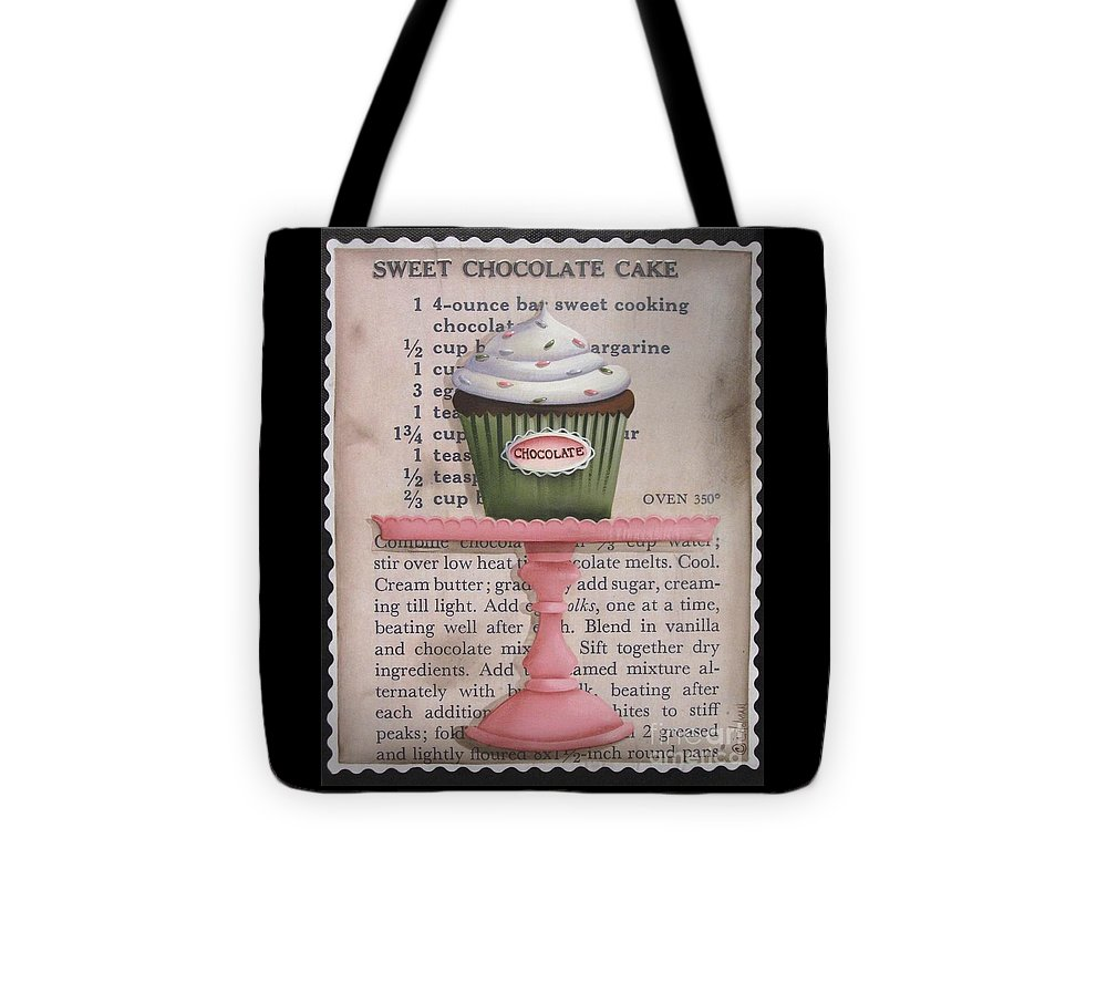 Art Tote Bag featuring the painting Sweet Chocolate Cupcake by Catherine Holman