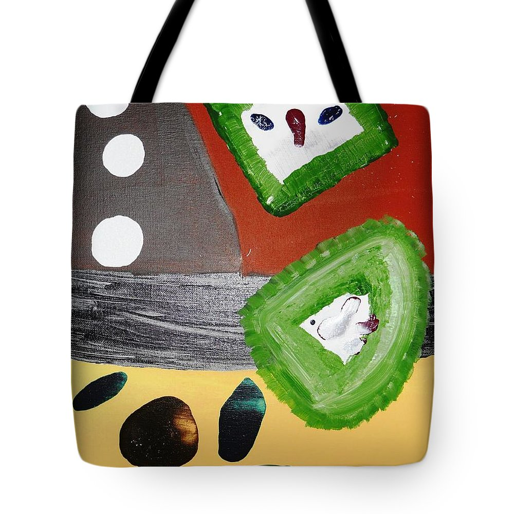 Abstract Impressionism Tote Bag featuring the painting Sweet Home by Fatiha Boudar