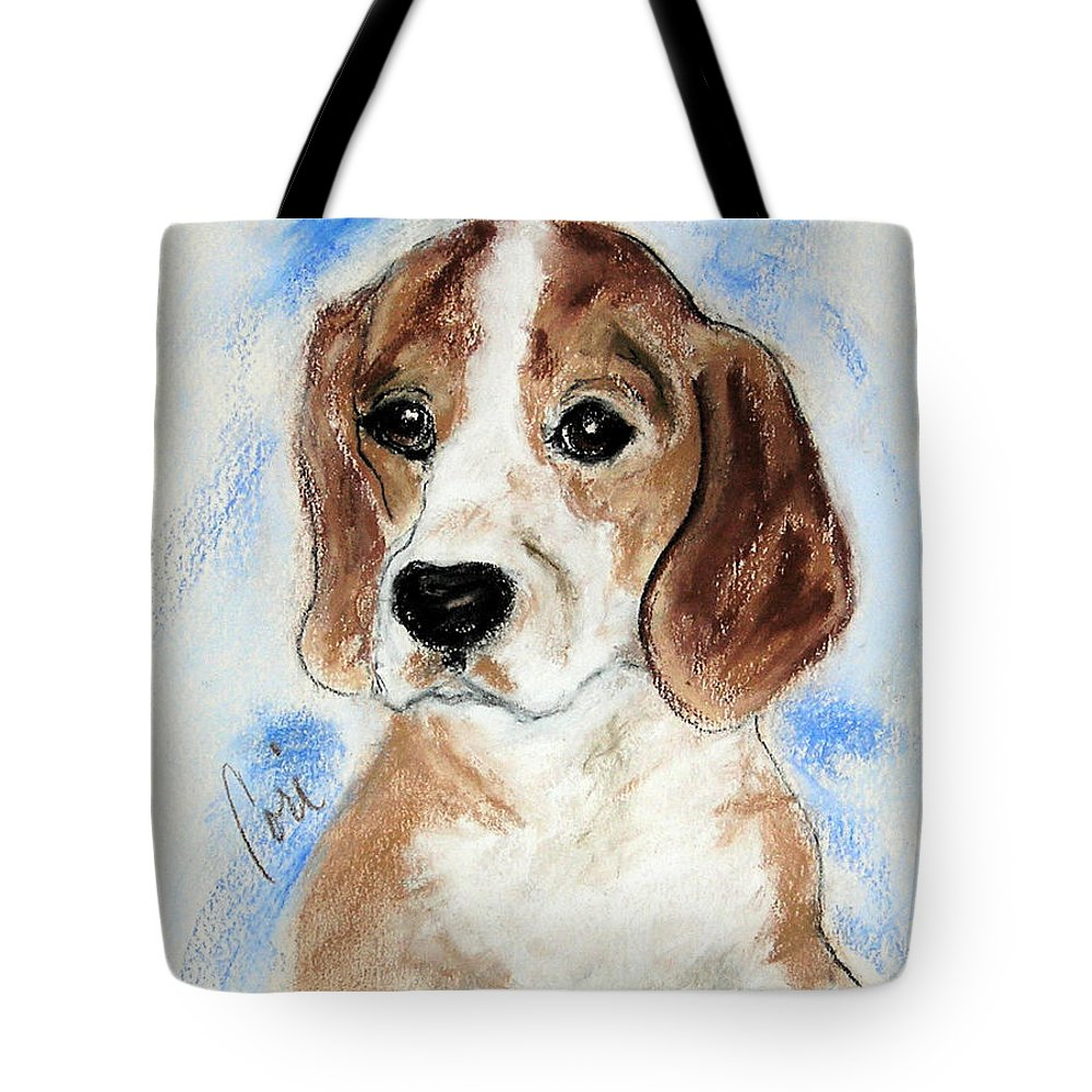Dog Tote Bag featuring the drawing Sweet Innocence by Cori Solomon