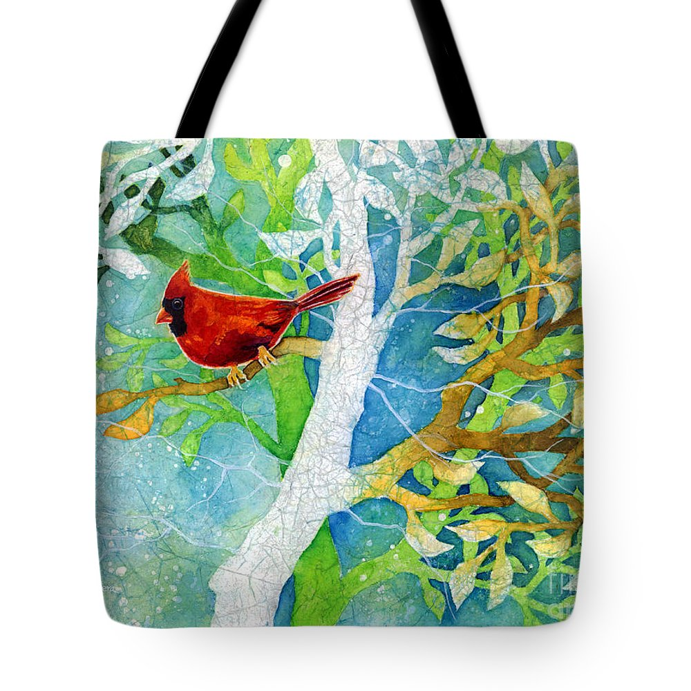 Cardinal Tote Bag featuring the painting Sweet Memories II by Hailey E Herrera