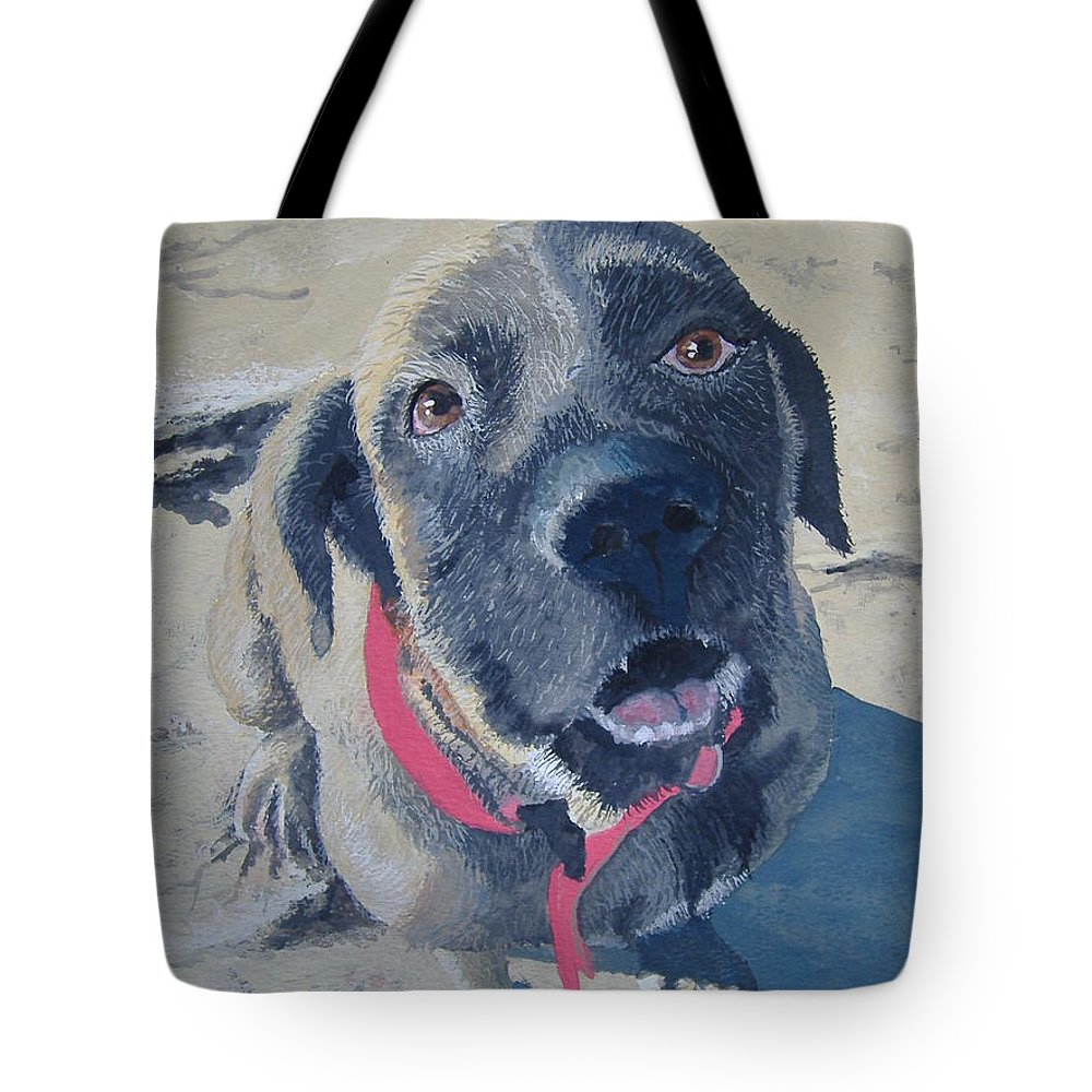 Dog Tote Bag featuring the painting Sweet Pea by Norm Starks