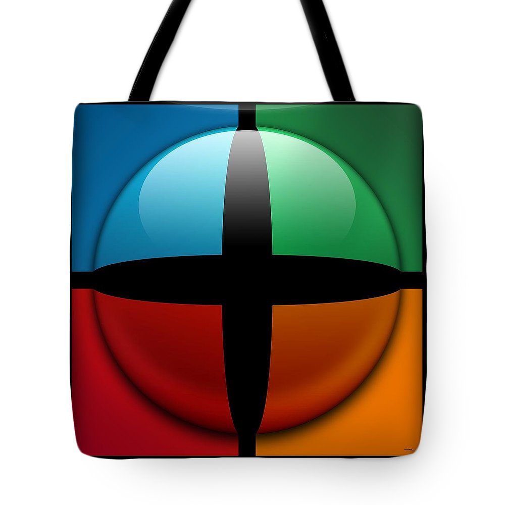 Abstract Tote Bag featuring the digital art Sweet Spot, No. 3 by James Kramer