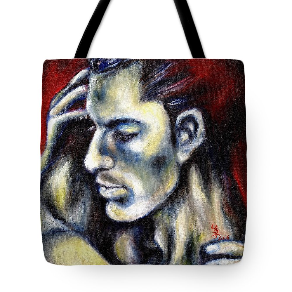 Man Tote Bag featuring the painting Sweetest Taboo by Hiroko Sakai