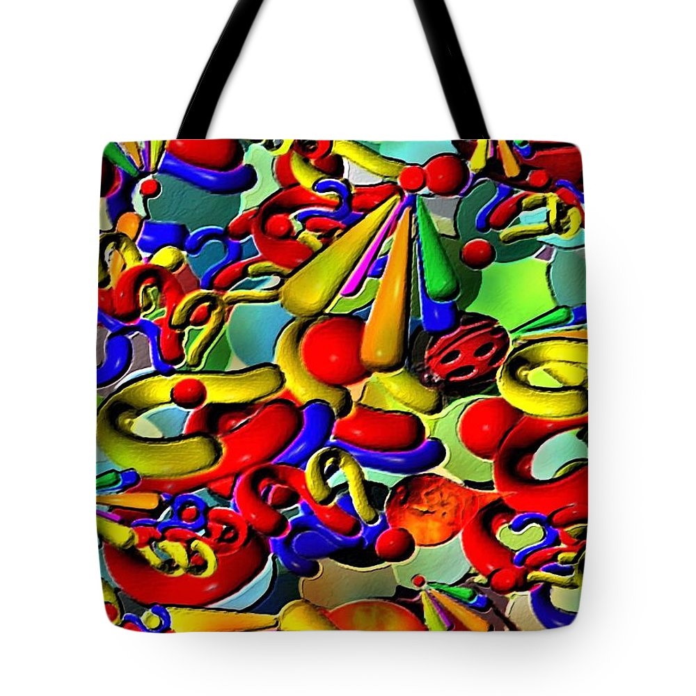Contemporary Tote Bag featuring the painting Sweets By Rafi Talby  by Rafi Talby