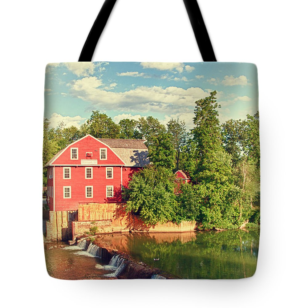 Landscape Tote Bag featuring the photograph Swimming At War Eagle by Robert Frederick