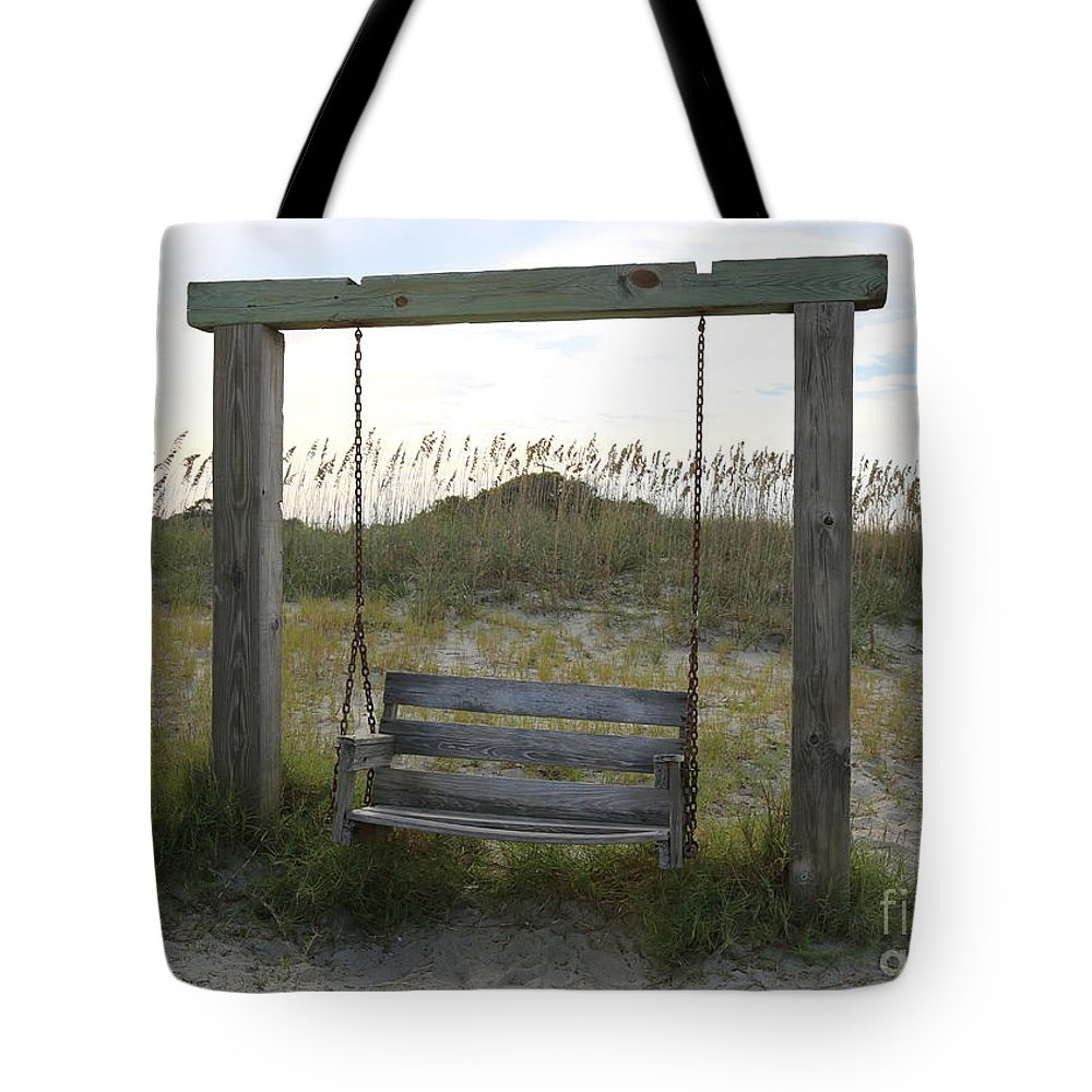 Beach Tote Bag featuring the photograph Swing On The Beach by Carol Groenen