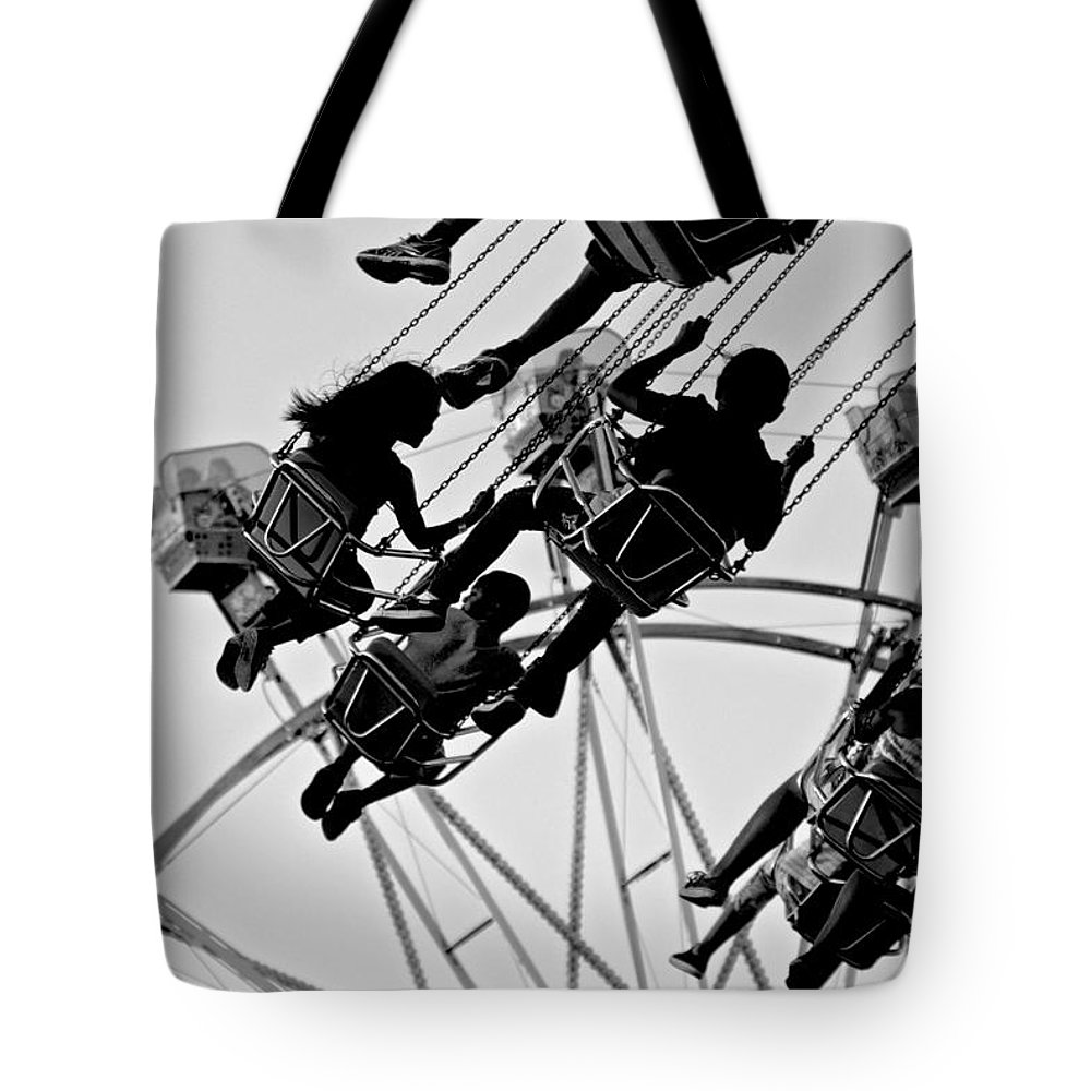 Merced County Fair Tote Bag featuring the photograph Swinging Good Time by Eric Tressler