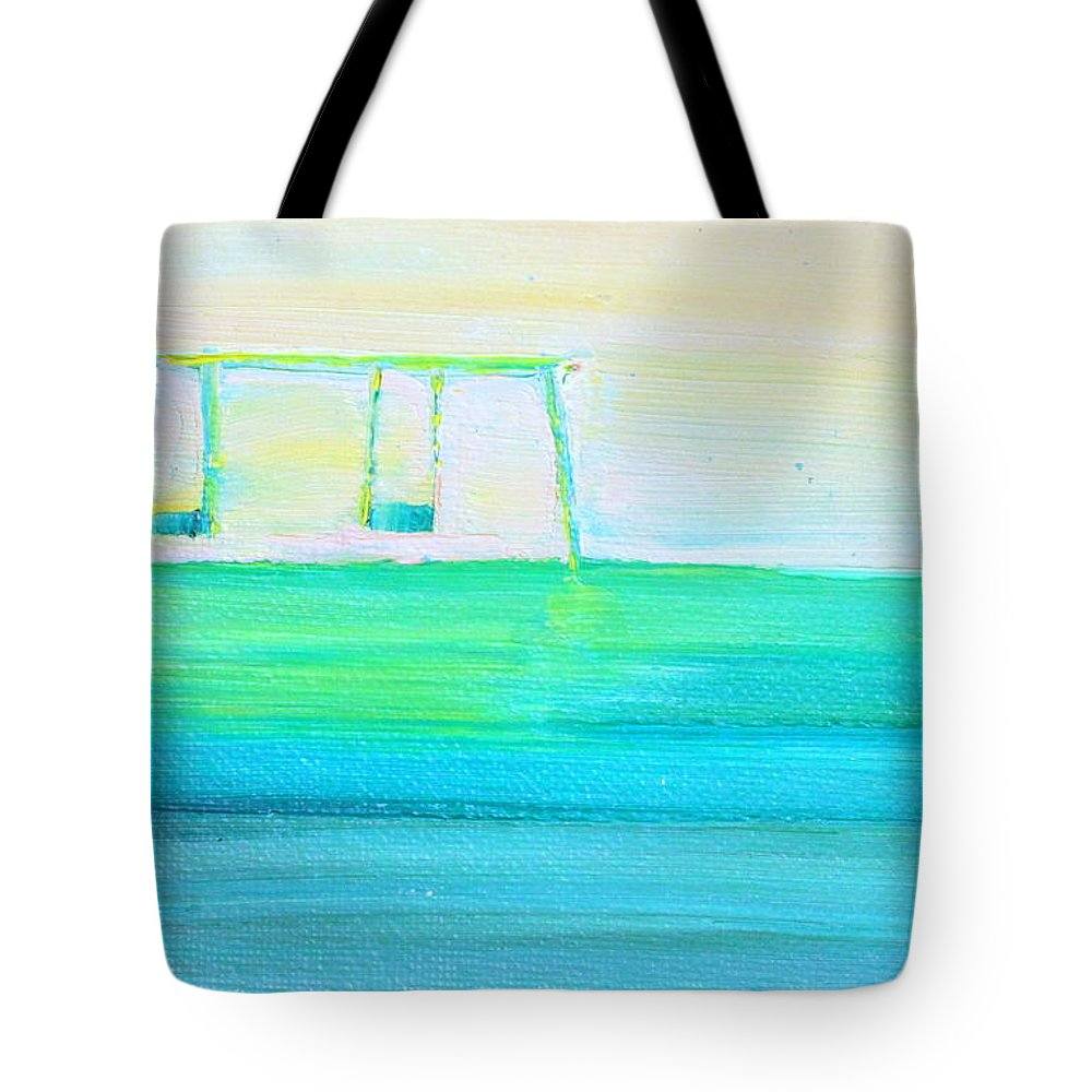 Swing Tote Bag featuring the painting Swings by Fabrizio Cassetta
