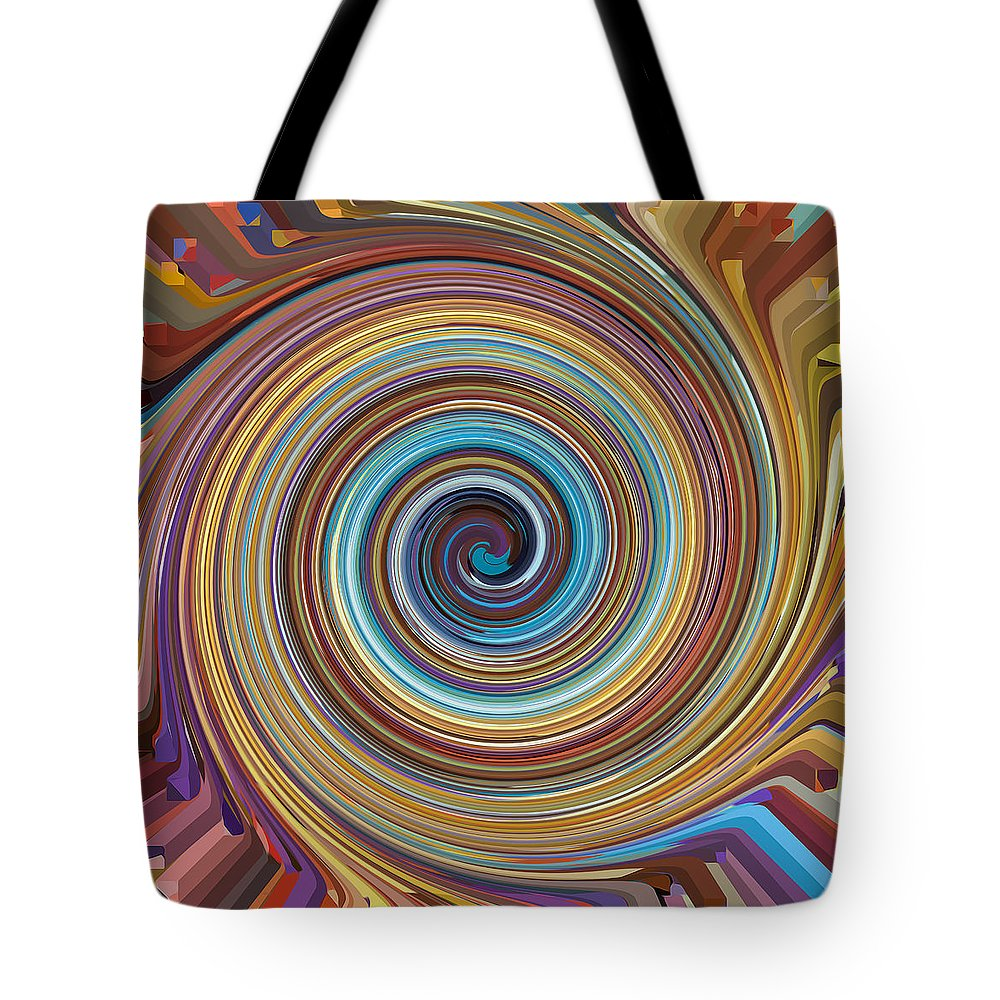 Swirl Tote Bag featuring the painting Swirl 85 by Jeelan Clark