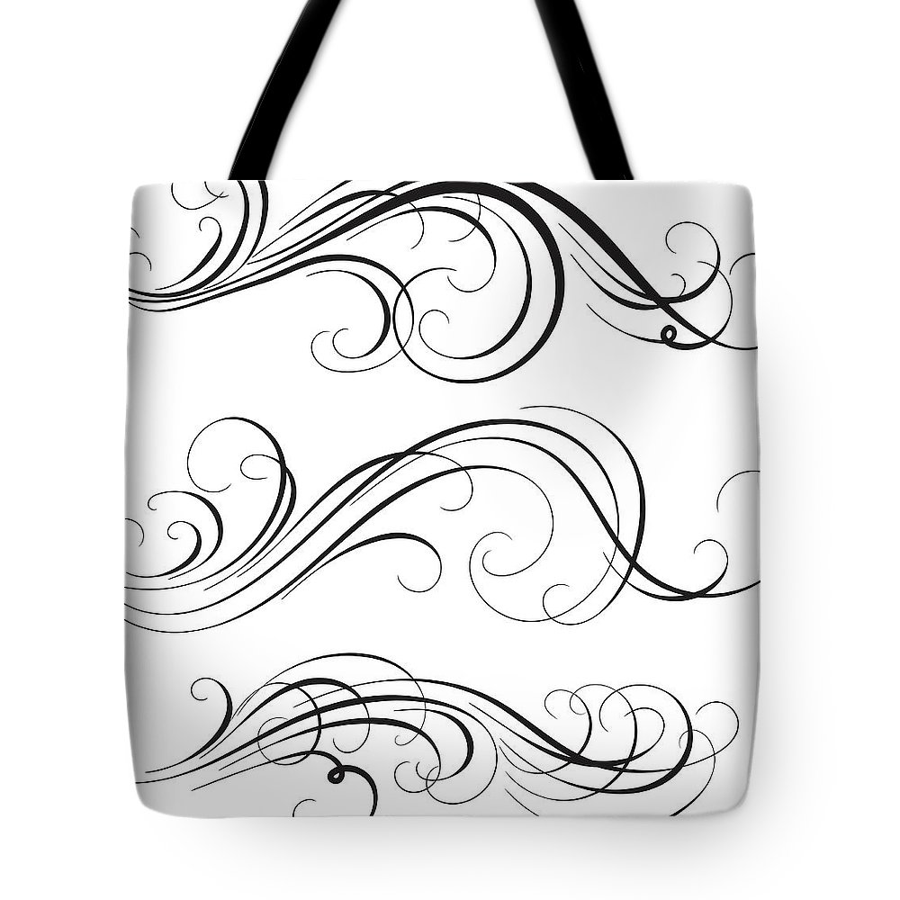 Curve Tote Bag featuring the digital art Swirl by Mashuk