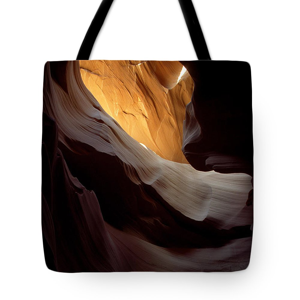 Slot Canyons Tote Bag featuring the photograph Swopes by Kathy McClure
