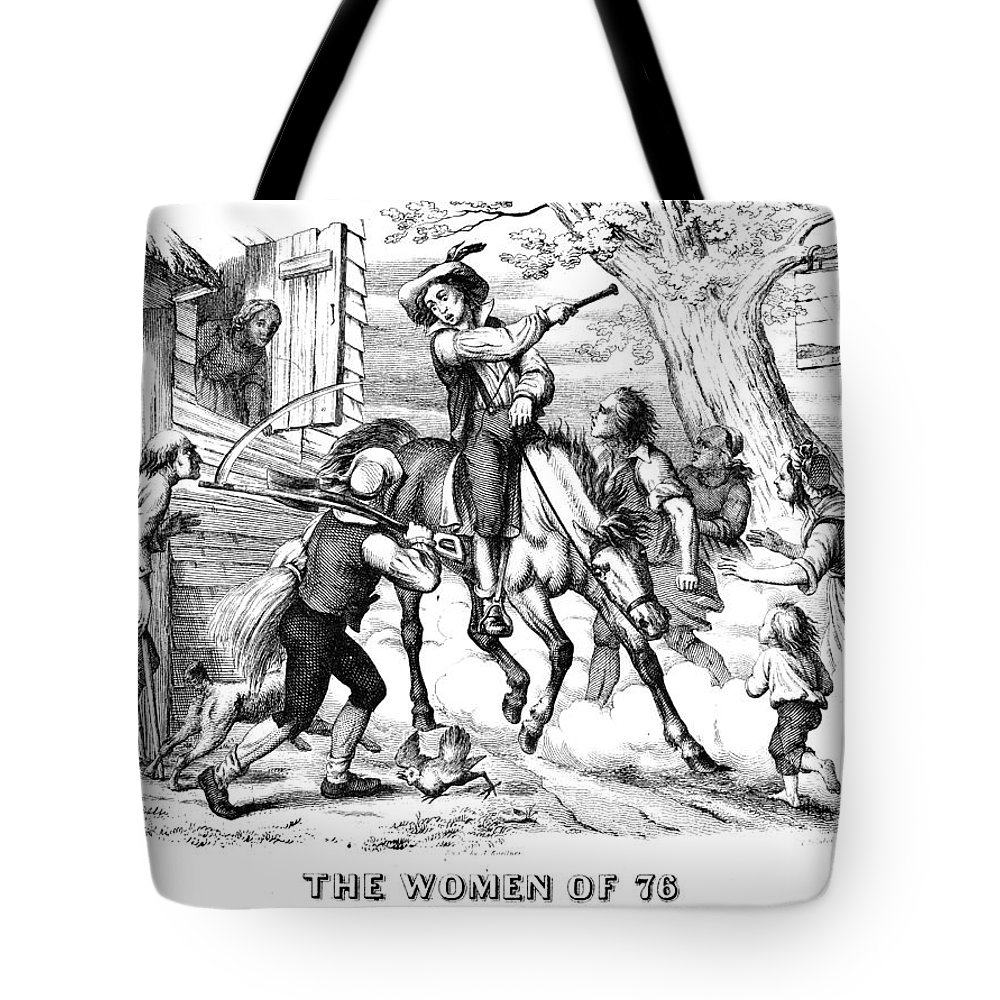 1776 Tote Bag featuring the photograph Sybil Ludington, 1776 by Granger
