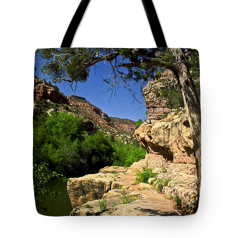Arizona Tote Bag featuring the photograph Sycamore Canyon by Kathy McClure